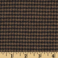 Cozy Yarn Dye Flannel Mini Houndstooth Brown