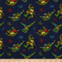 Nickelodeon Teenage Mutant Ninja Turtles Flannel Cowabunga Toss Navy