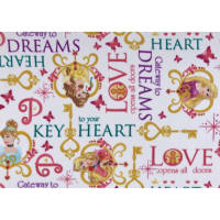 Disney Princess Keys Fleece Key To Your Heart White