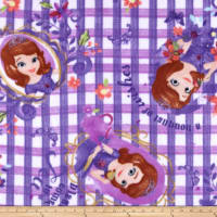 Disney Sofia The First Fleece A Bouquet of Wishes Purple