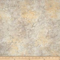 Indonesian Batik Abstract Floral Pale Yellow