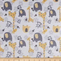 E.Z. Fabric Minky Jungle Dreams Yellow