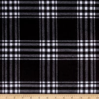 E.Z. Fabric Minky Treas Plaid Black