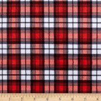 E.Z. Fabric Minky Swatch Plaid Red