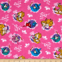 Disney Sleeping Beauty Flannel Character Badge Pink