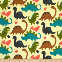Michael Miller Dino Flannel Old Friends Kryptonite