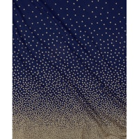 Michael Miller Glitz Metallic Confetti Border Pearlized Navy-Bronze
