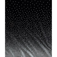 Michael Miller Glitz Metallic Confetti Border Pearlized Black/Silver