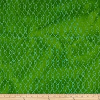 Indian Batik Hollow Ridge Grid Lime