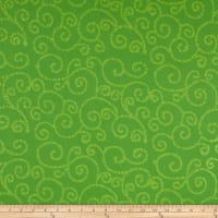 Indian Batik East Side Scroll Lime