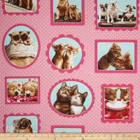 Kaufman Hugs & Kisses Dogs & Cats Pink