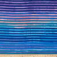 Kaufman Dot Dot Dot Stripe Bubble Gum Batik
