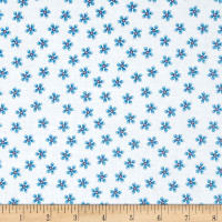 QT Fabrics Owl In The Family Posey Toss Blue