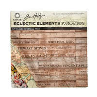"Tim Holtz Eclectic Elements Foundations 12"" Craft Pack"