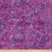 Wilmington Batiks Dancing Flowers Purple