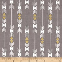 Riley Blake Four Corners Gold Sparkle Stripe Gray