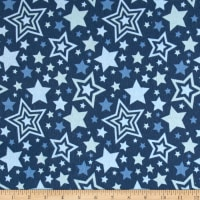 Riley Blake Lucky Star Flannel Main Blue