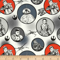 Star Wars The Force Awakens Badges White