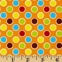 Polka Dot Pond Bubbles Orange