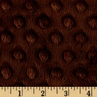 Shannon Minky Cuddle Dimple Extra Wide Brown