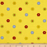 Bicycles & Blooms Stained Glass Floral Yellow