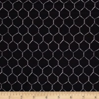 Timeless Treasures French Country Chicken Wire Black