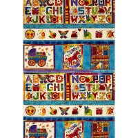 Laurel Burch Laurel Land 24 In. Metallic Panel Multi Bright