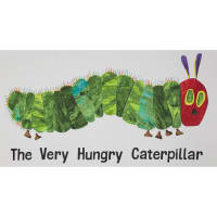 The Very Hungry Caterpillar Giant 23 In. Panel White