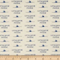 Little House On The Prairie Logo Blue