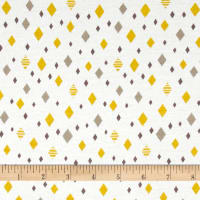 Cloud 9 Organics Diamonds Interlock Knit Citron