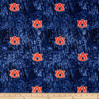 Collegiate Cotton Broadcloth Auburn University Tie Dye Print Navy