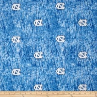 Collegiate Cotton Broadcloth University of North Carolina Tie Dye Print Blue