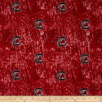 Collegiate Cotton Broadcloth University of South Carolina Tie Dye Print Burgundy