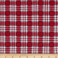 Cotton Jersey Knit Christmas Plaid