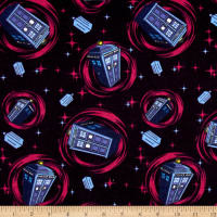 BBC Doctor Who Flannel Telephone Police Box Blue
