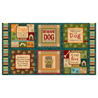 "It's A Dog's Life 24"" Panel Multi"