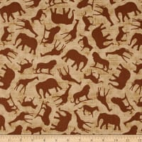 Wisdom of The Plains Animal Silhouettes Brown