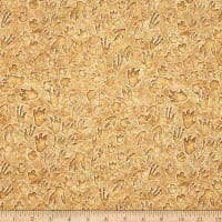 QT Fabrics Jurassic Jungle Dino Tracks Tan