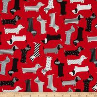Kaufman Urban Zoologie Weenie Dogs Red