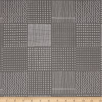 Kaufman Blueberry Park Geo Plaid Pewter