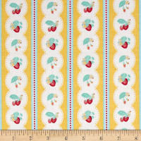 Penny Rose Shabby Strawberry Stripe Yellow