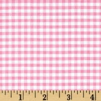 1/8 Inch Small Gingham  Baby Pink