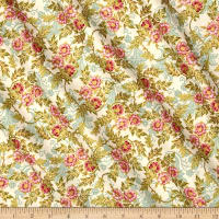 Jenny Jane Metallic Small Floral Parchment/Gold