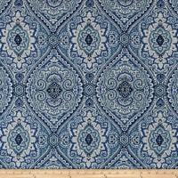 Swavelle/Mill Creek Purana Damask Ocean Blue Linen