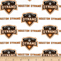 MLS Cotton Broadcloth Houston Dynamo White