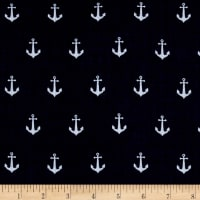 Riley Blake Double Gauze Anchors Navy