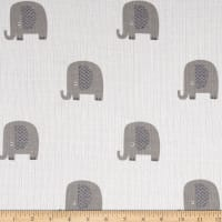 Riley Blake Double Gauze Elephant Gray