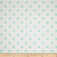Premier Prints Polka Dot Twill White/Mint