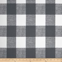 Premier Prints Anderson Check Twill Home Decor Fabric Gunmetal