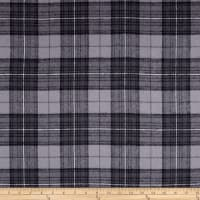 Yarn Dyed Flannel Plaid Grey